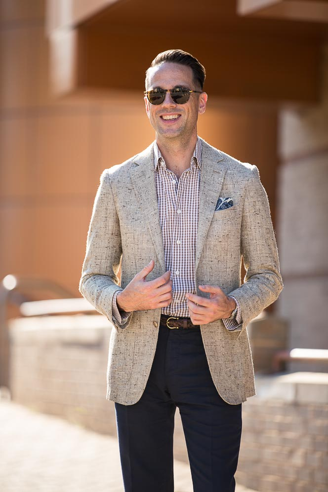 business casual hot weather men