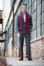 grey suit burgundy combinations