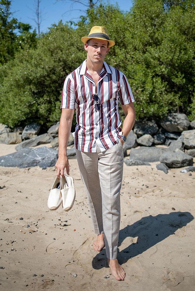camp collar shirt beach vacation