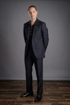 Dark Blue Herringbone Suit