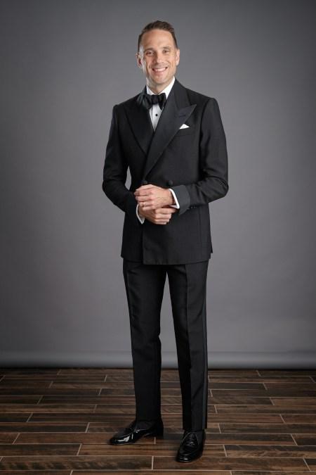 Black Double Breasted Tonik Mohair Tuxedo