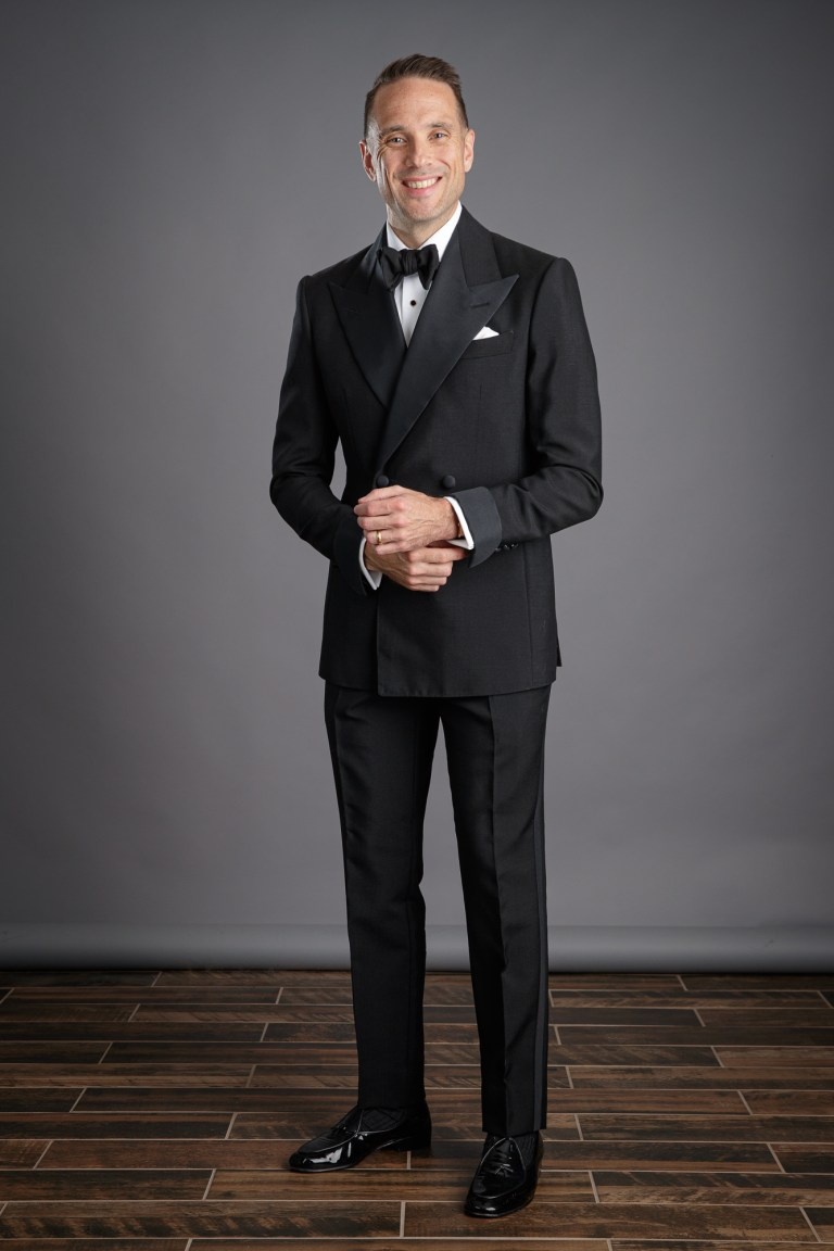 Black Double Breasted Tonik Mohair Tuxedo