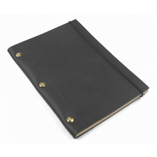 Black La Compagnie du Kraft Leather Notebook