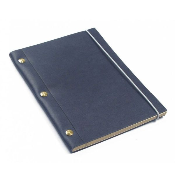 Blue La Compagnie du Kraft Leather Notebook