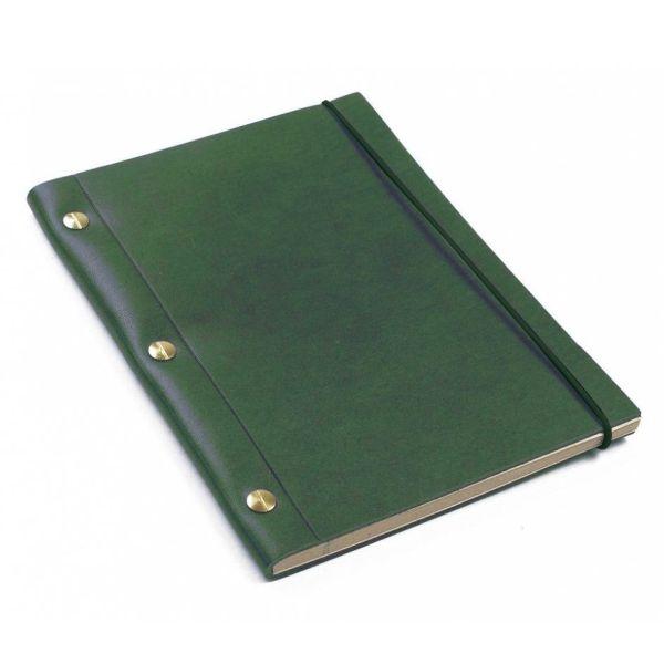 Green La Compagnie du Kraft Leather Notebook