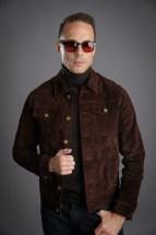 Brown Suede Trucker Jacket