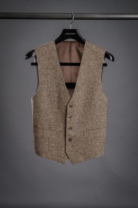 Brown Donegal Tweed Vest