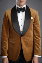 Golden Brown Velvet Dinner Jacket