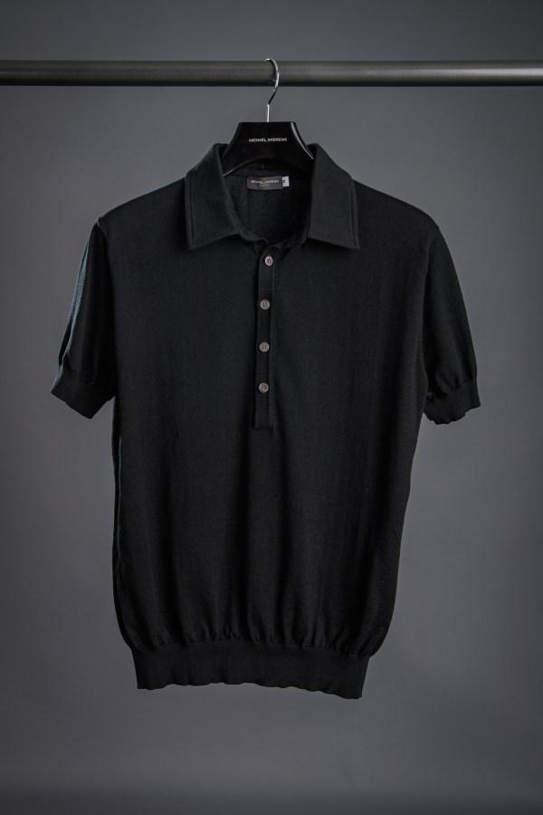 Black Pima Cotton Polo Shirt