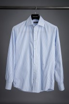 Light Blue Stripe Oxford Dress Shirt