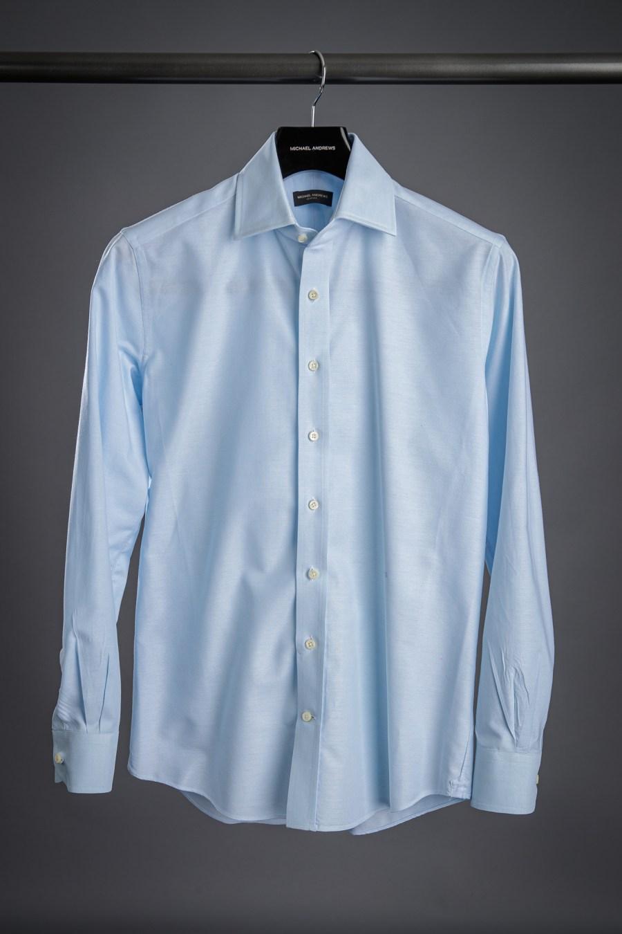 Blue Oxford Cloth Dress Shirt