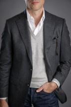 Mid Grey Flannel Sport Coat