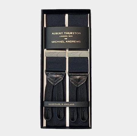 Black Suspenders w/ Silver Hardware