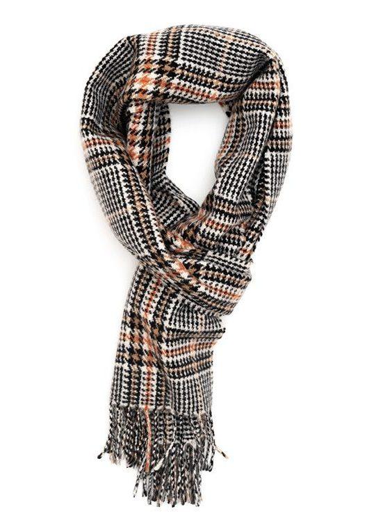 Black, Fudge & Bengal Tiger Heritage Tweed Classic Cashmere Scarf