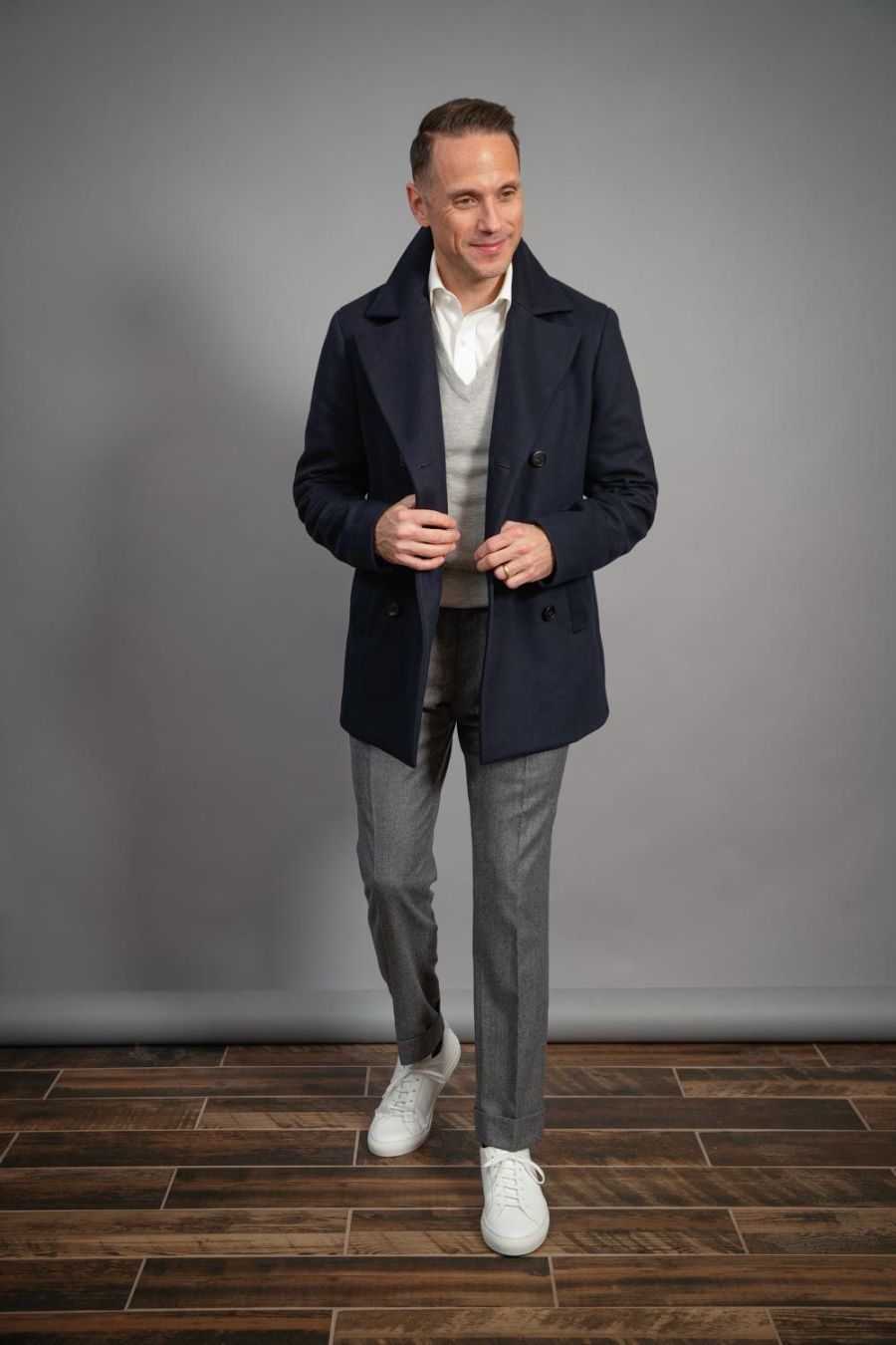 versatile-white-sneaker-outfit-with-navy-peacoat-capsule-collection-for-men