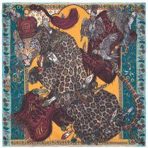 The Leopard's Bazaar Teal/Turmeric