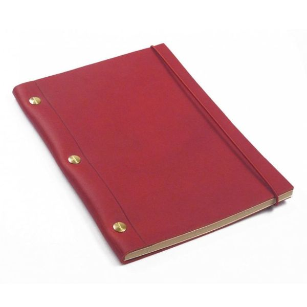 Red La Compagnie du Kraft Leather Notebook