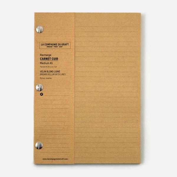 La Compagnie du Kraft Notebook Refill - Brown Lined