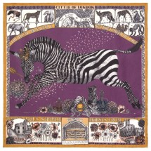 The Royal Striped Horses Amethyst/Gold