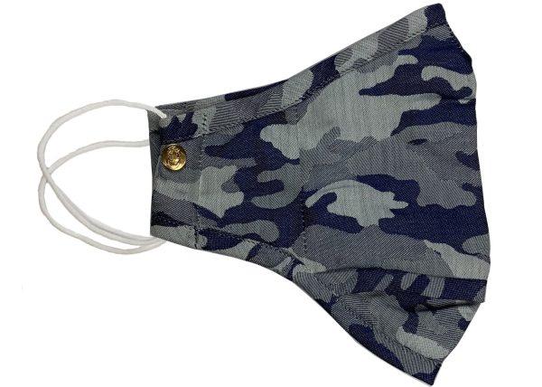 Navy Anti-Microbial Camo Mask