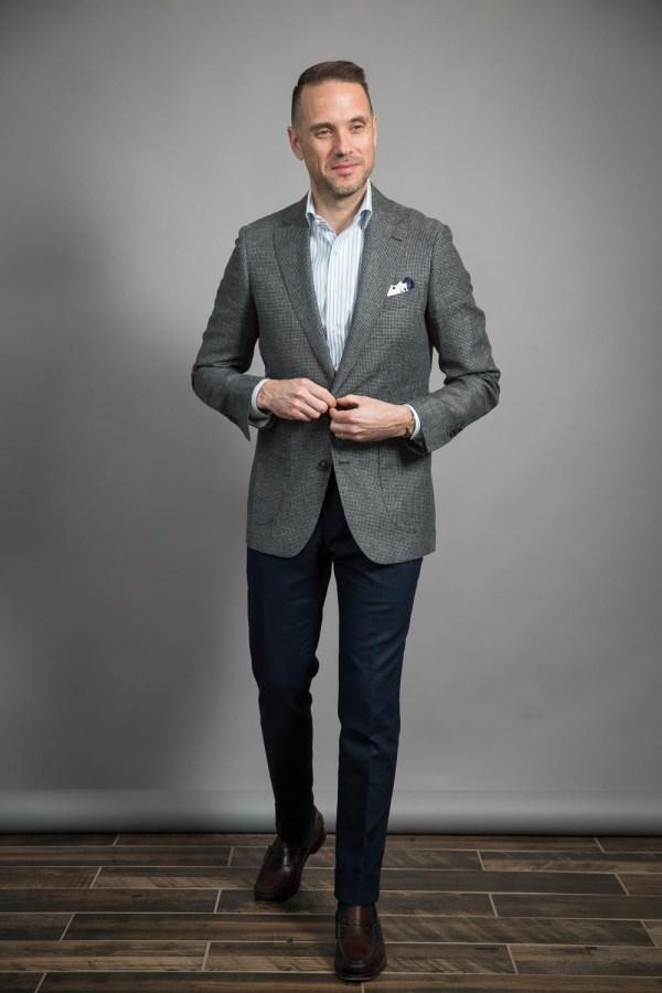 Grey & Black Puppytooth Sport Coat