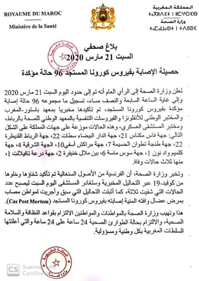 وباء كورونا كورونا بالمغرب حالات كورونا بالمغرب