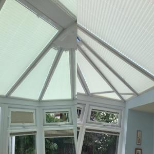 Conservatory blinds installed