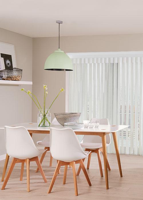 Allusion blind installed in kitchen