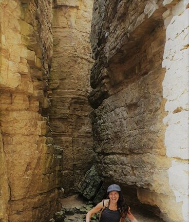 Isabel Gil von Bed & Wine bei den Felsengärten