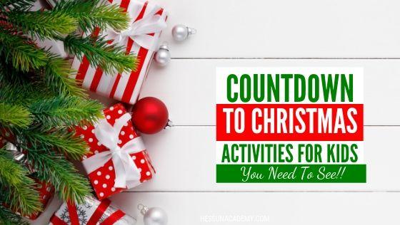 Christmas garland countdown to Christmas activities for kids