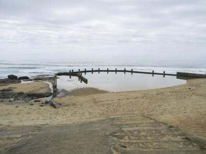 Mtwalume tidal pool just more than a kilometer along the beach