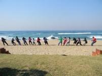 Family fun at Hibberdene beach