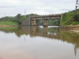 Railway bridge over the Mvusi river