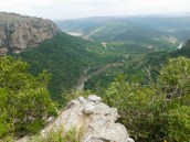 View of the Oribi Gorge basin taken from outside the caves - Lake Eland Nature Reserve