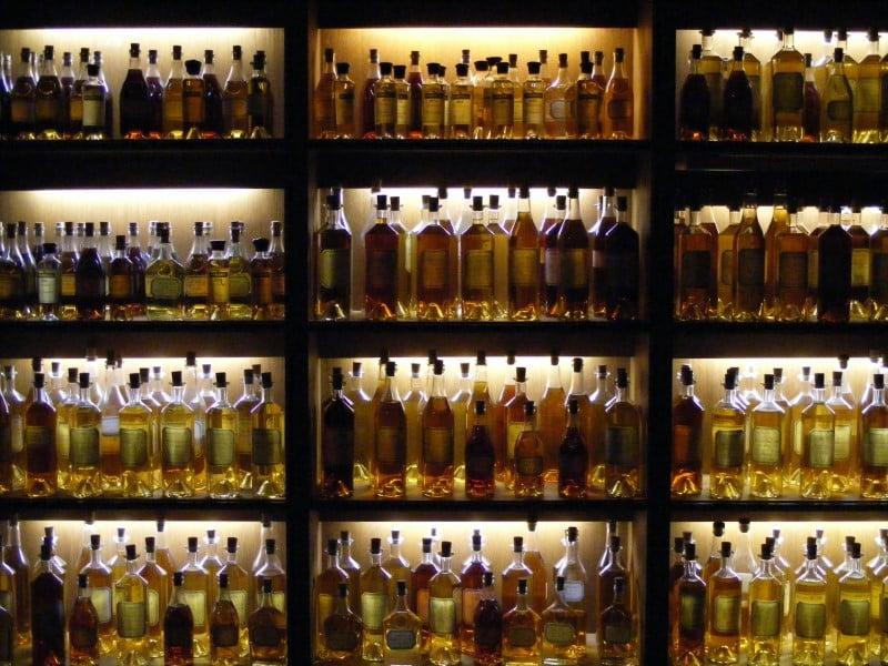 Bouteilles de cognac