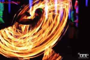 fire artist show