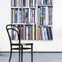 Thonet stoel 214 noten gebeitst met rieten zitting