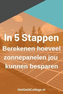 In 5 stappen berekenen hoeveel zonnepanelen jou kunnen besparen
