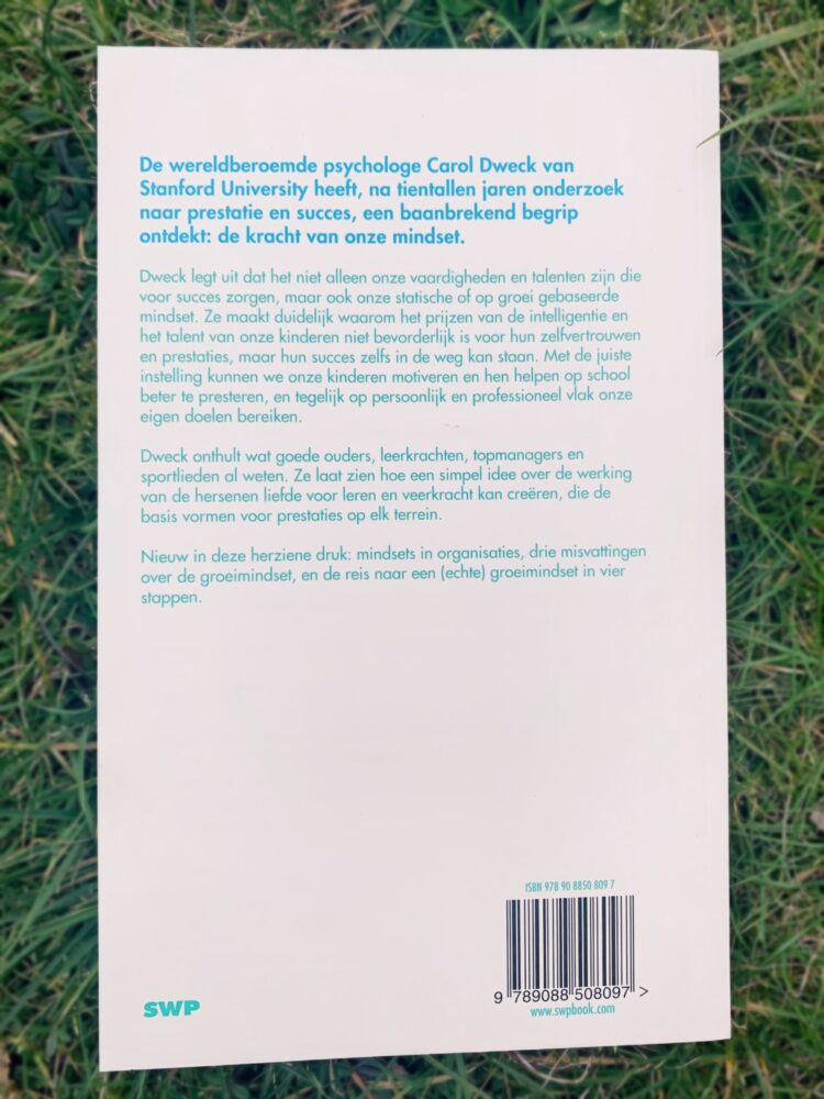 Het Gezinsleven - Lifestyle - Hobby's - Persoonlijke ontwikkeling, boeken top 5 - Achterkant boek Mindset