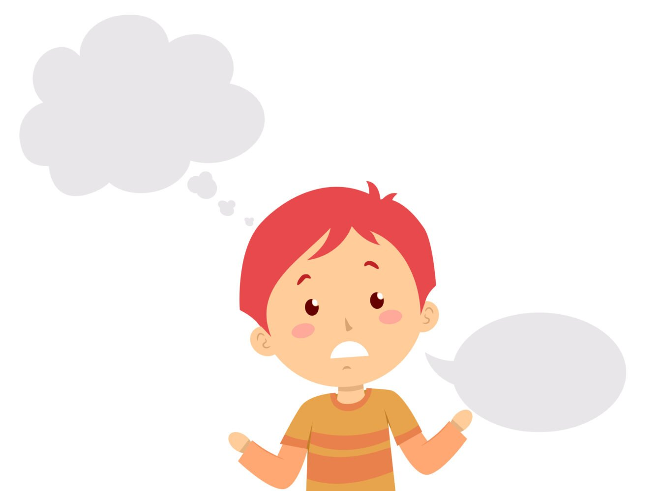 Het Gezinsleven - Moeder en Kind - Kinderen 1-4 jaar - Stotteren, wat kun je doen als je kind stottert? - Illustratie stotteren, wat je wilt zeggen, komt er niet uit