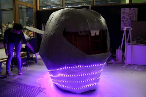 Tof effect van LED's in het donker
