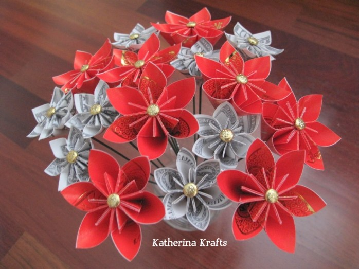 Chinese New Year Origami Red Envelope and Money Flowers by Katherina Krafts