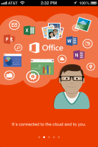 After you install Office Mobile, you'll get a similar, mobile-friendly version of the install introduction from the full Office 2013.