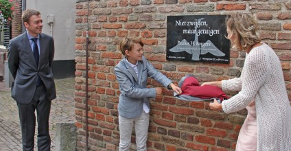 Onthulling gedenksteen ds. P. Borgers