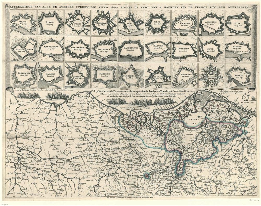 stercke steden die in 1672 in 2mnd naar Fransen overgingen