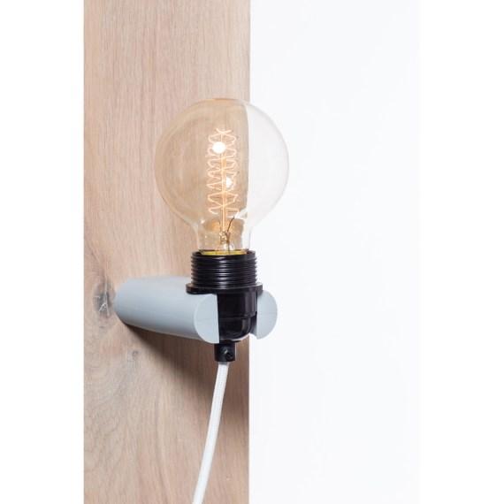 No.16 wandlamp lichtgrijs