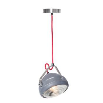 No.5 Hanglamp vintage koplamp grijs
