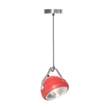 No.5 Hanglamp vintage koplamp rood