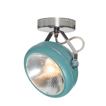 No.7 Spot vintage koplamp aqua