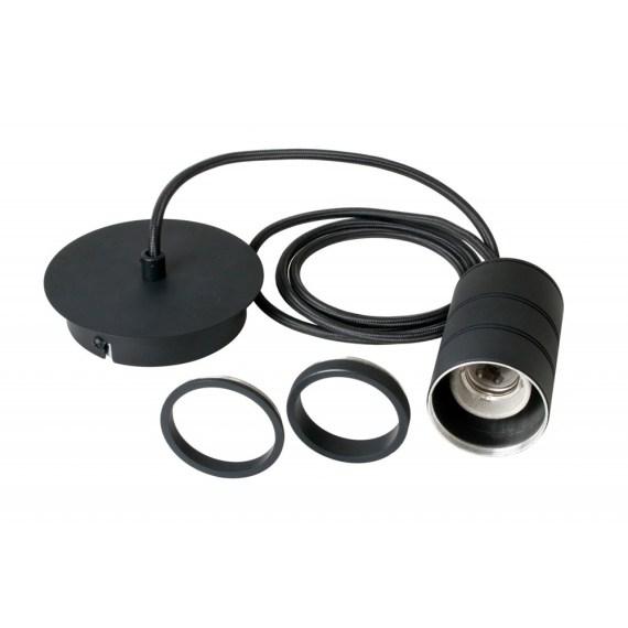 Pendel 1 lichts 200cm zwart/zwart E27 965255